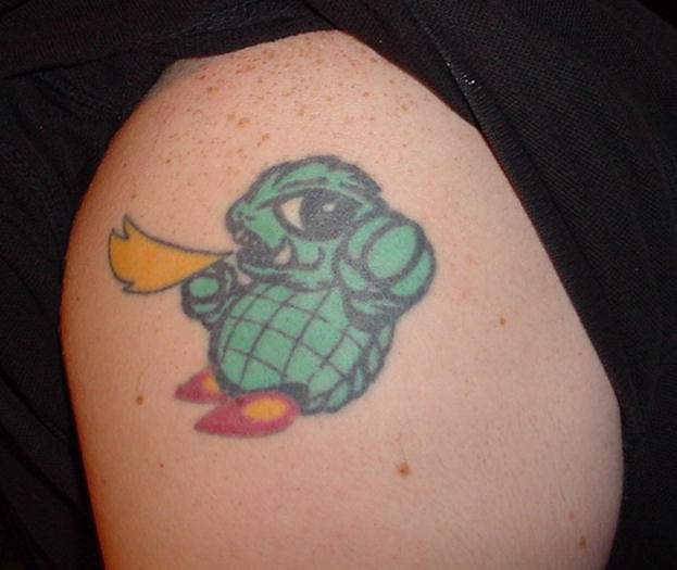Alligator Tattoo by Joe at Asgard Gamera: The origami figure, the plush,